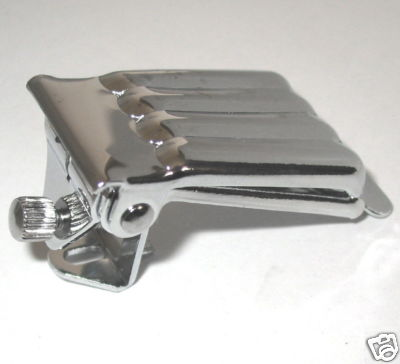 Banjo Tailpiece-Clamshell, 4 or 5 string, single tensioner, nickel or chome  plated